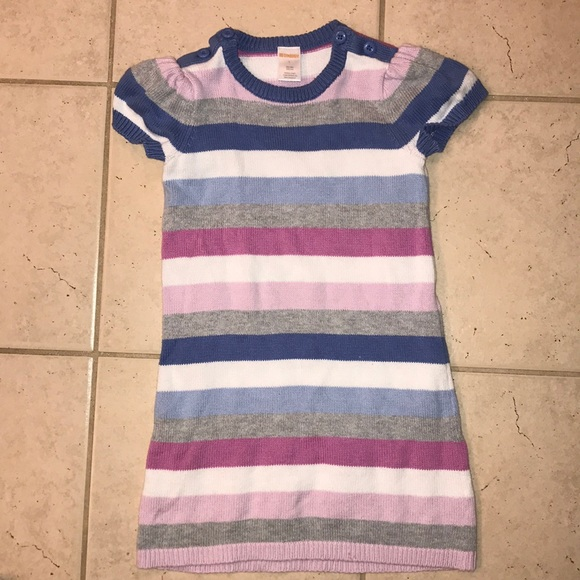Gymboree PRETTY IN PLUMS Turquoise /& Purple Knit  Dress NWT 5 6 7